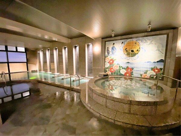 7/23大浴場リニューアルオープン!大浴場・露天風呂や貸切露天風呂、足湯など22趣の湯めぐりができる