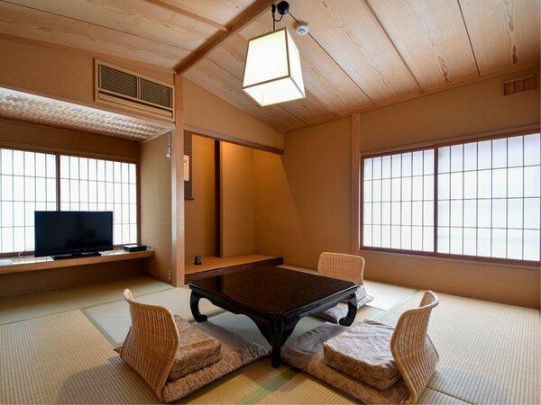 *【プレミアスイート・撫子】12.5畳+6畳+控3畳 最大6名様ご一緒に滞在いただける広いお部屋です