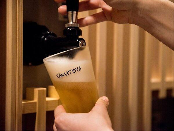 *【湯あがり所の無料ビールサーバー】湯あがりに冷えた1杯をお楽しみください。