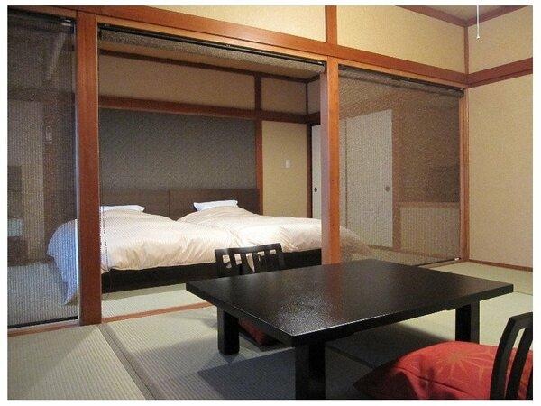 和室7.5畳+ベッドルーム7.5畳 和ベッドでお寛ぎ頂けます!