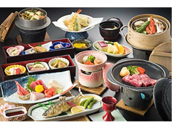 お料理イメージ:和食会席膳  山海の幸をふんだんに取り入れた和食会席膳をご用意いたします