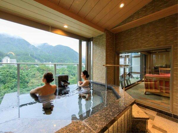 *【露天風呂付客室(一例)】最上階に絶景を眺める露天風呂付き客室が、新たに誕生いたしました!