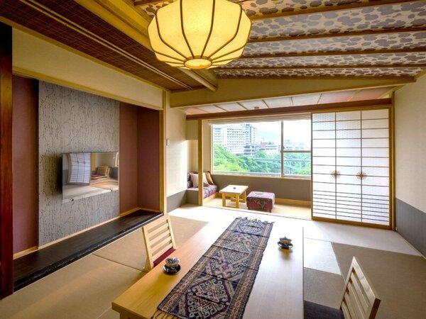 ■リニューアル和室 10畳 渓谷側:【リニューアルコンセプトルーム和室】一例