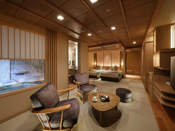 ◆2017年7月リニューアル★秀峰館最上階眺望風呂付和洋室「雅」