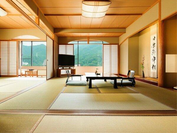 鬼怒川渓谷沿いの広々とした和室(10畳+6畳+6畳)