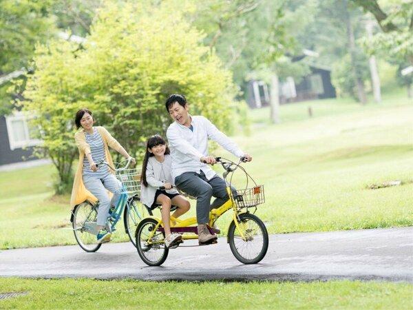軽井沢の爽やかな風をきってサイクリング♪