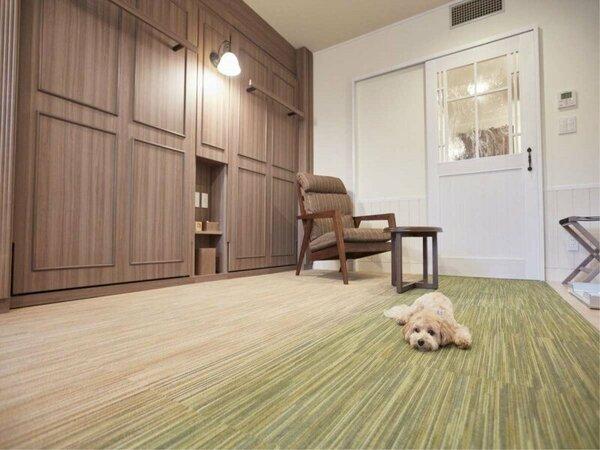 【ペット客室】収納式ベットでお部屋広々♪