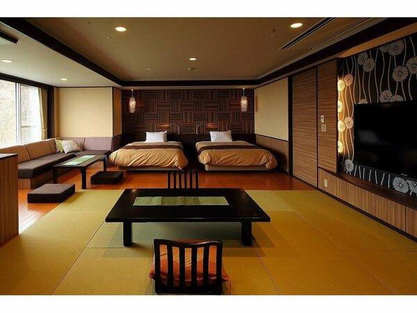 和洋室「星あかり」ツインベッド+12.5畳(69平米)