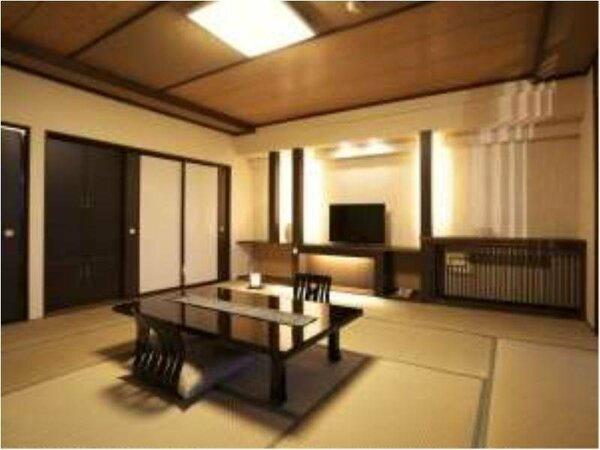 シックな新和モダン和室へとリニューアルされたお部屋になります。