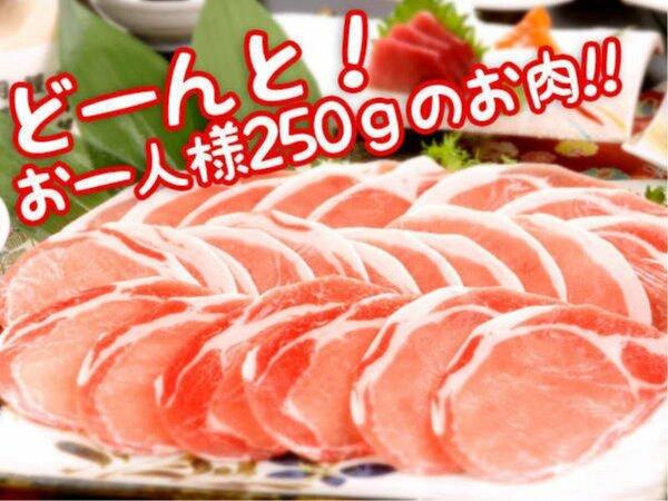 【メガしゃぶ会席】豪快!なんと一人前250gのお肉!(^o^)