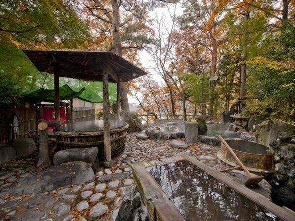 混浴露天風呂/湯量豊富な自家源泉☆100%掛け流しの天然温泉です。