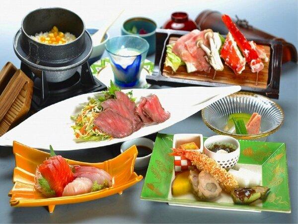 2020年夏 タラバ蟹や上州麦豚の蒸し料理とローストビーフのコース