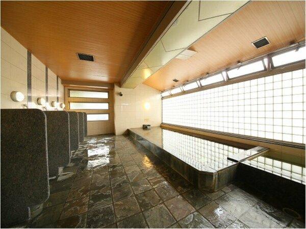 【天然温泉】大浴場(男性内風呂)