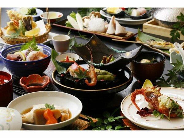お魚好きにはたまらない料理長自慢の海鮮づくしの和食会席膳です