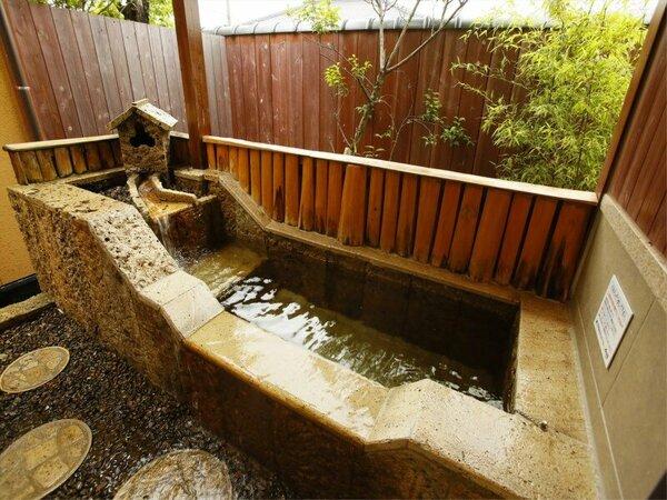 【平屋離れA1/きんもくせい】和洋室和室6畳(48)シモンズセミダブル(120×200) 岩風呂