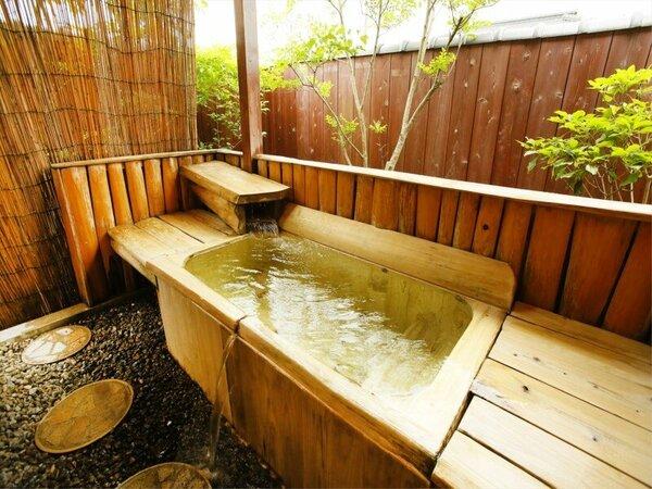 【平屋離れA1/あんず】和洋室和室6畳(48)シモンズセミダブル(120×200)×2 檜風呂