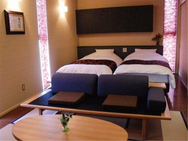 2階建て内湯付離れ_菖蒲2F寝室