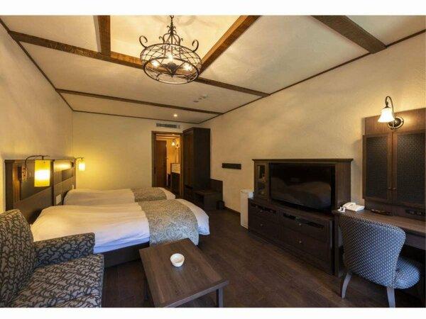 【ナチューラスイート】2ベッドを備えたスイートタイプ。4名様までゆったりお過ごしいただけます。