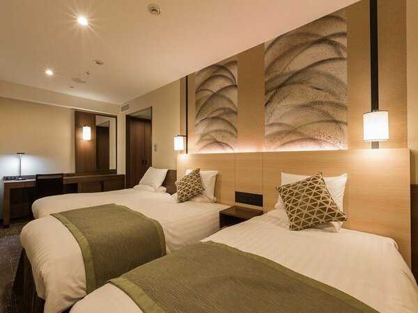 【3名様1室】ツインルームに補助ベッド(幅90cm)を1台追加させていただきます★