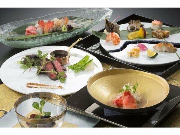 料理の一例(イメージ)お客様のお食事のペースに合わせ、一品ずつお出しいたします。