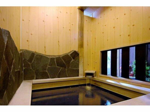 人工カルシウム温泉は身体の芯まで温まる貸切☆木の和風風呂
