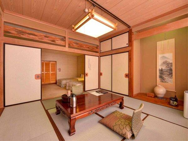 *本館・和洋室(和室8畳+洋室ツイン)/ お部屋でのんびりとお寛ぎください。