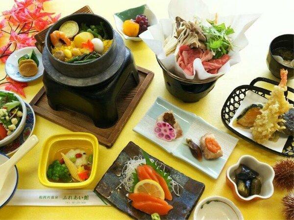 *秋の松コース/食欲の秋。秋の味覚をふんだんに使用したお食事になります。