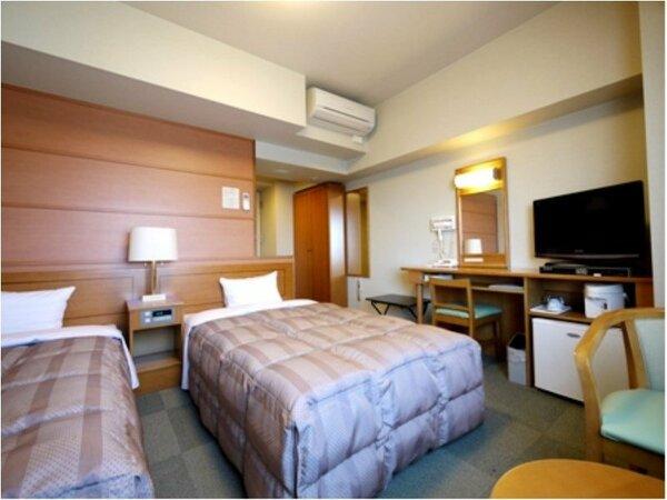 ツインルーム ベッドサイズ120×196(cm) 全室無料Wi-Fi&加湿機能付空気清浄器完備