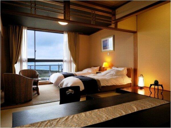 海を望む和洋室の客室