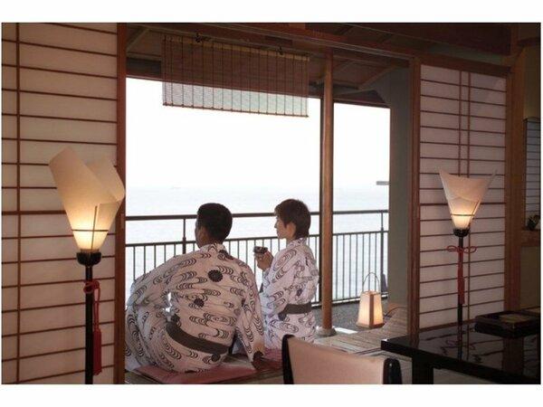 全室オーシャンビューなので、どのお部屋からでも伊勢湾の眺めをお愉しみ頂けます