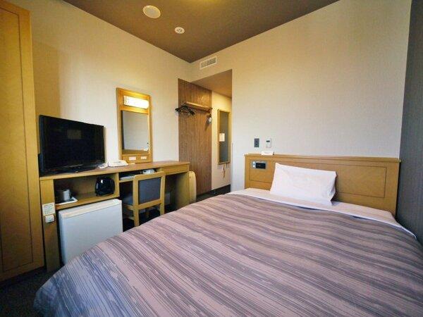 【シングル】ベッドサイズ140×200(cm)全室無料Wi-Fi&加湿機能付き空気清浄器完備