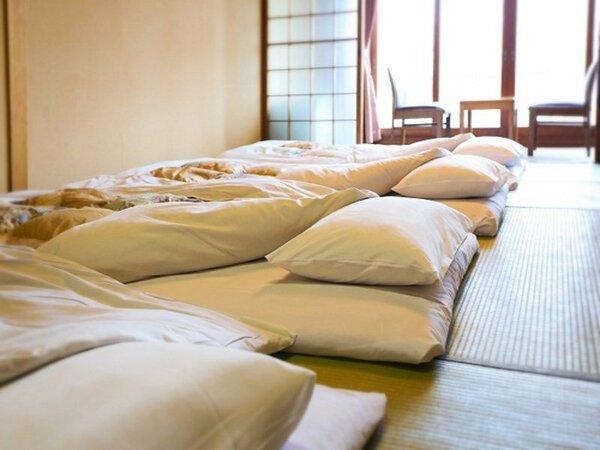 和室 イメージ 宿泊人数分の布団を敷いた状態で案内しております。未就学添寝無料