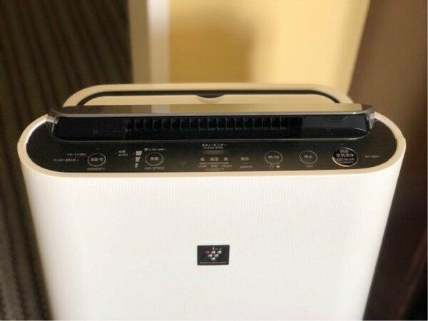 加湿機能付きの空気清浄機(プラズマクラスター)を全室設置。安心・快適にご滞在頂けます。