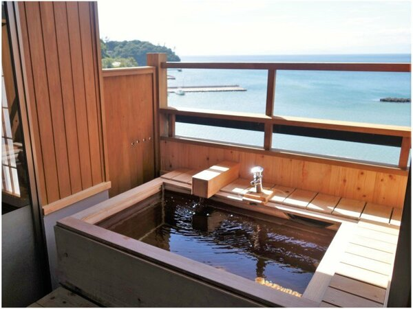 秋桜 客室露天風呂 一例
