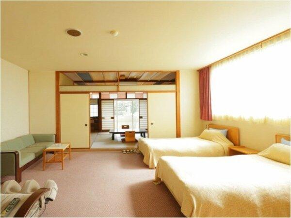 【客室】和室+ツインベッドルームの和洋室(一例)