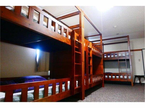 ドミトリールーム 6人部屋(男女共用) 二段ベッド1名様分