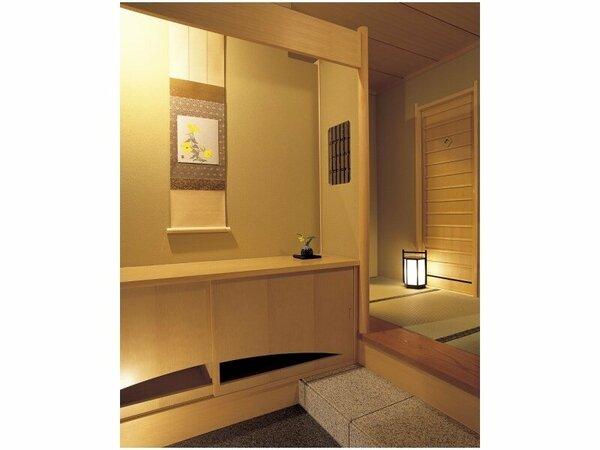 特別階「野の花亭」河口湖側露天風呂付純和室玄関(イメージ)