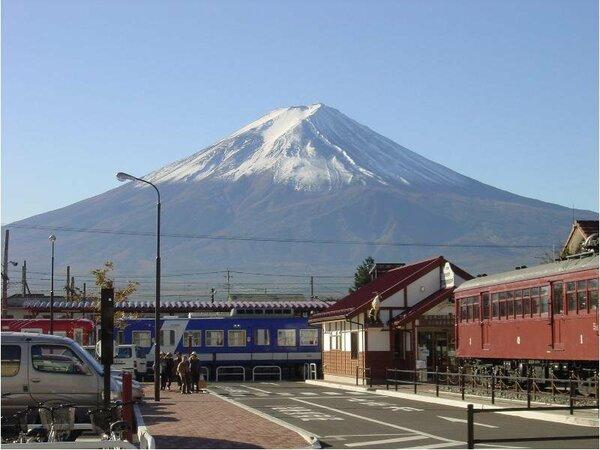 富士山が見られるお部屋もございます。