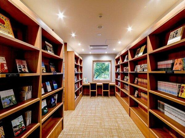 ラウンジに隣接している書籍コーナー。