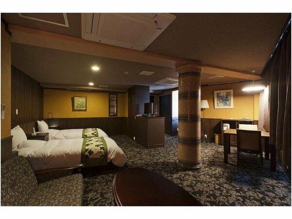 【浜の館】05タイプ/ツイン洋室57.7平米/バリアフリー対応温泉付(源泉100%)まるでホテルの雰囲気。
