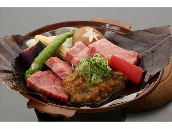 「A4飛騨牛ほう葉味噌ステーキ」郷土のクラシックな料理とブランド牛のコラボレーション