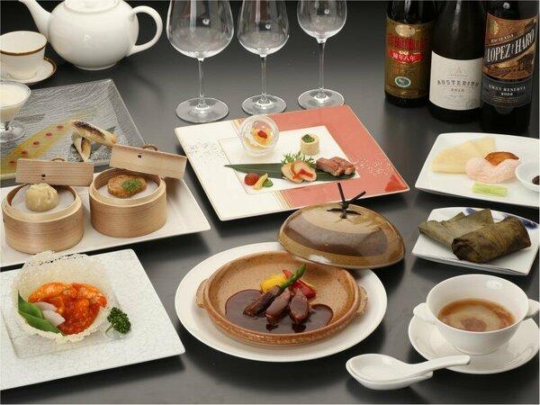 【チャイナルーム「龍遊里」】飛騨の食材をたっぷり使用したディナーコース