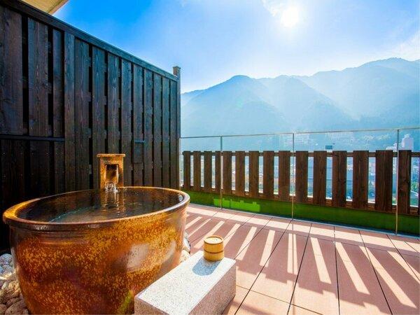 ■伍睦■ 下呂を一望できる露天風呂からの景色は圧巻!