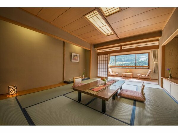大観荘客室の一例