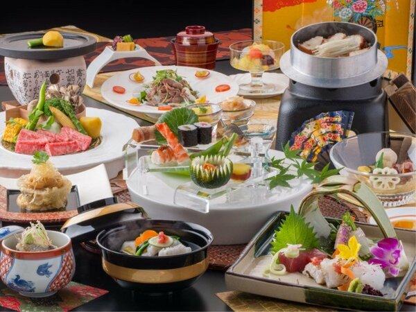 ☆飛騨の食材を中心に、料理長が真心こめて調理♪飛騨の美味しい四季の恵みをお愉しみください
