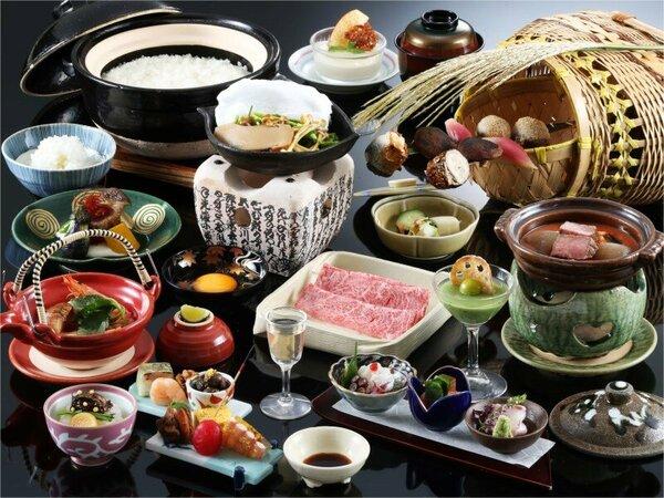 ご夕食の一例「味覚膳」(秋)