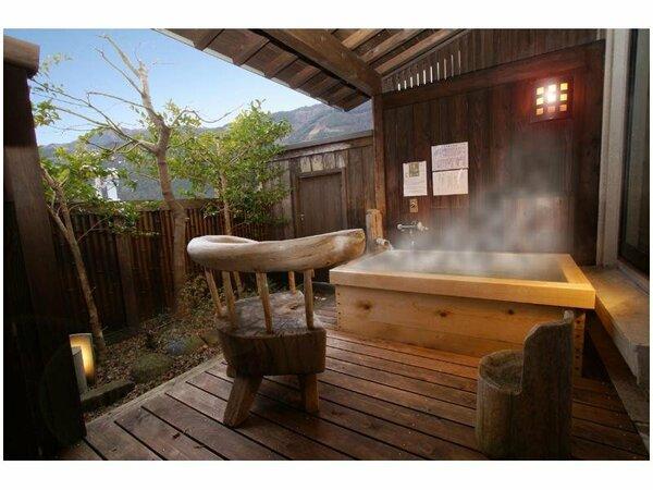 森山館の朝日が綺麗な露天風呂付和室「坪庭付き和室角部屋」お昼の風景