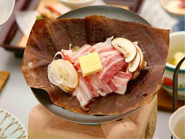 飛騨ぶた朴葉味噌焼き