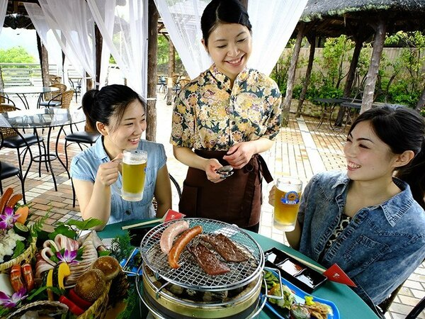 夏季限定!飛騨牛や海鮮、お野菜の炭焼きBBQ☆ビアガーデン