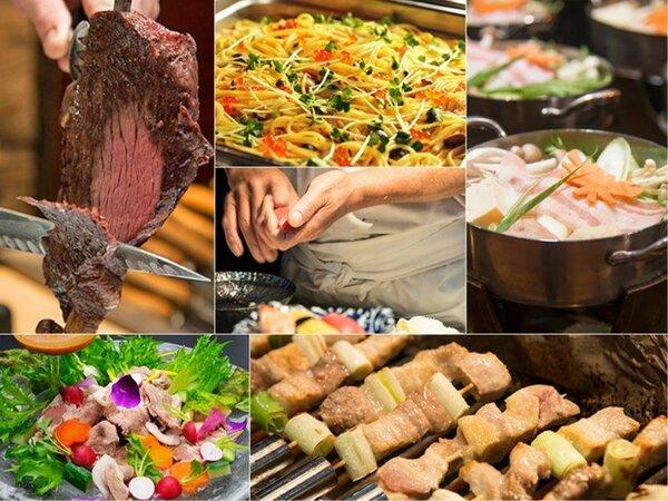 和洋中50種以上がずらり!シュラスコや握り寿司、手作りパスタ、サラダバーなど